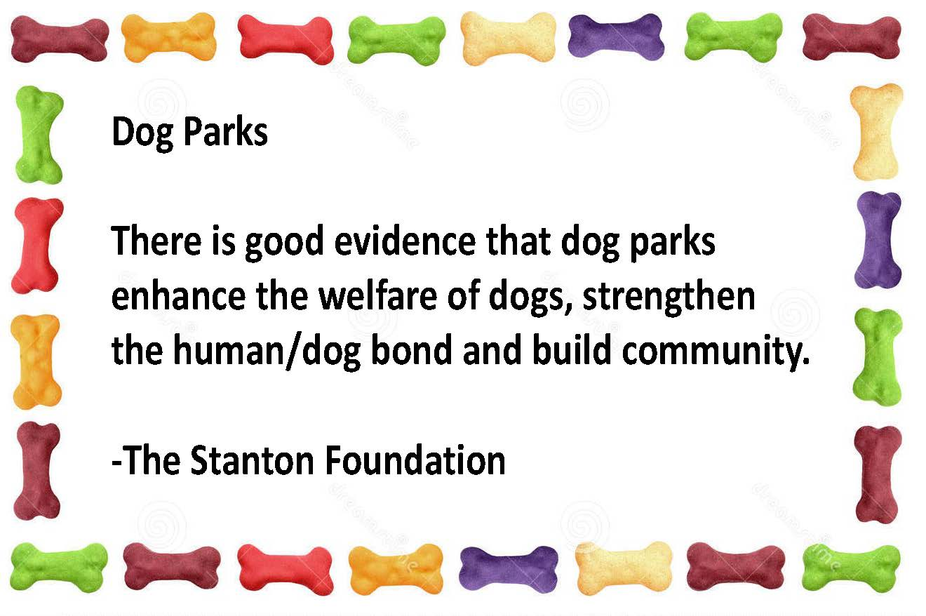 Stanton Foundation Dog Park message
